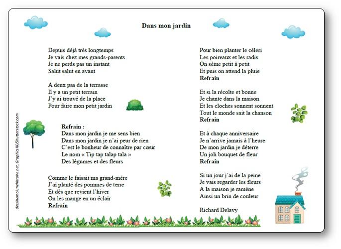 chanson Dans mon jardin Richard Delavy