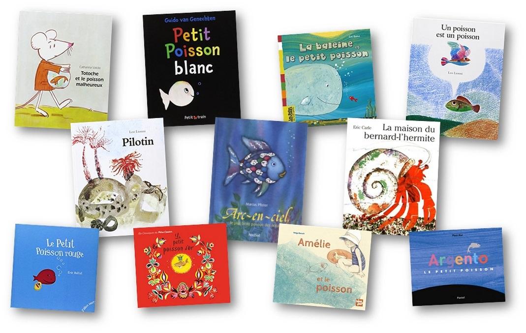 Albums sur le thème de la mer et des poissons