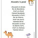 Comptine Alexandre le grand
