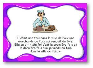"""Virelangue """"La marchande de Foix"""""""