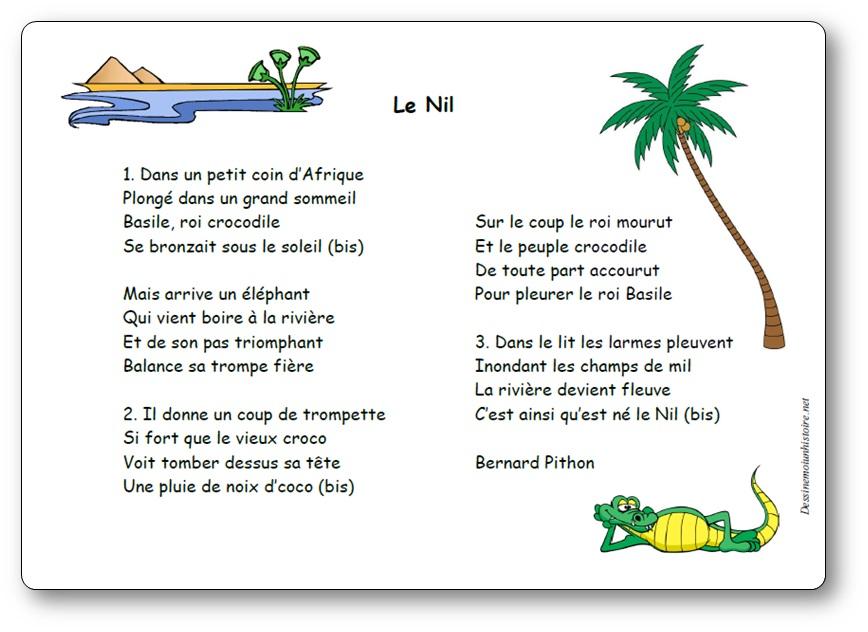 Paroles de la chanson le Nil