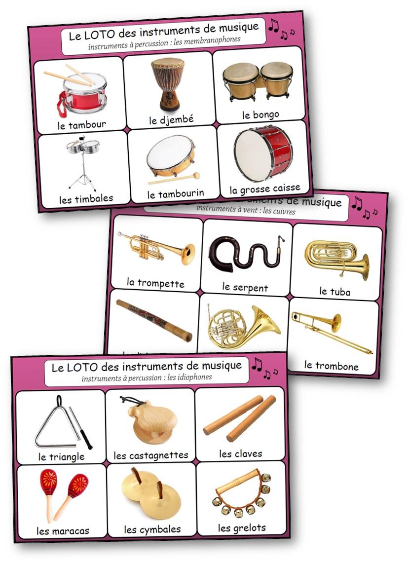 Loto Des Instruments De Musique Loto Des Instruments à Imprimer
