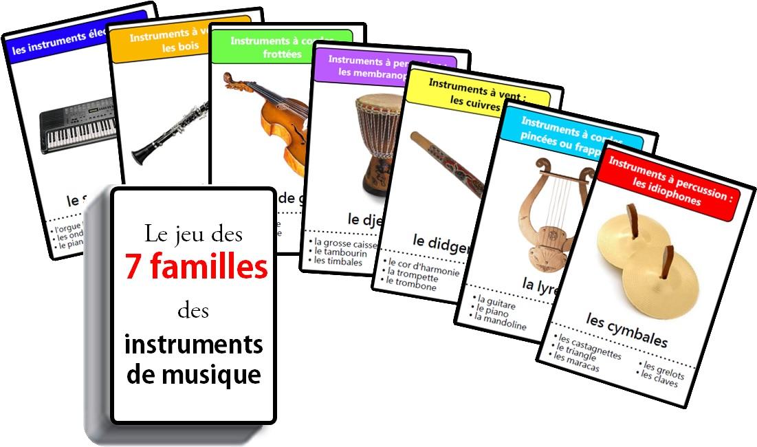 Jeu Des Sept Familles Des Instruments De Musique 7 Familles Des