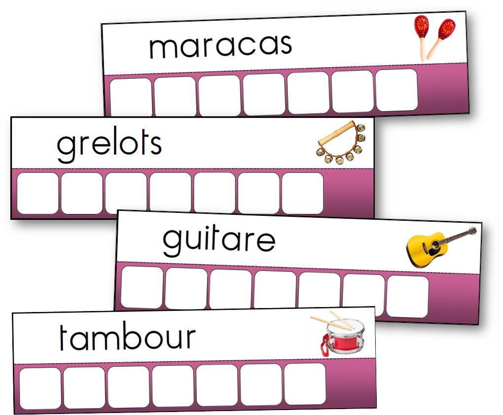 atelier des mots instruments de musique