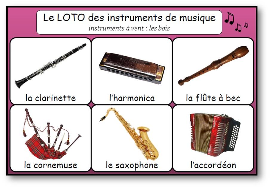 Loto des instruments de musique, Loto instruments de musique