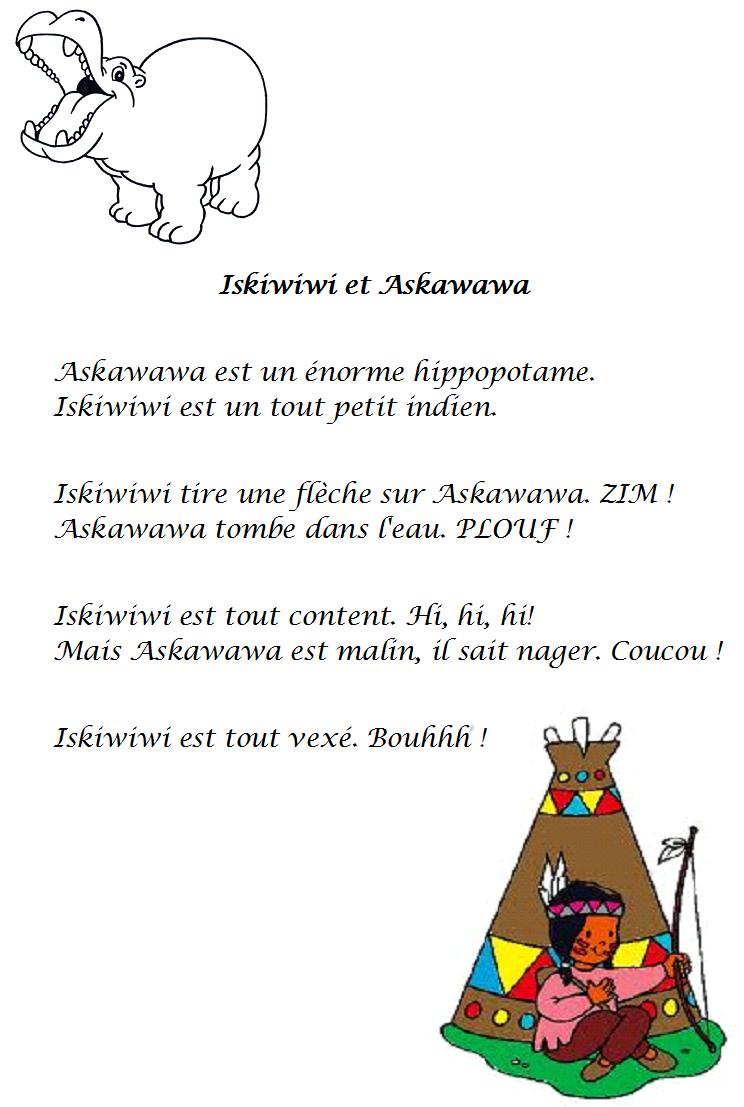 comptine hiskiwiwi et haskawawa
