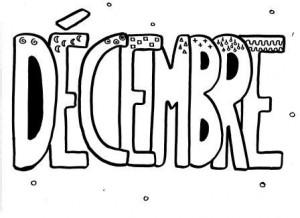 image mois de décembre graphisme