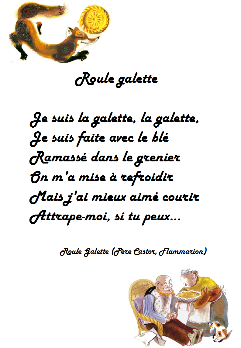 Comptine roule galette