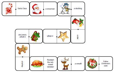 Dominos de Noël anglais