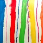 Lignes à la peinture et au pastel
