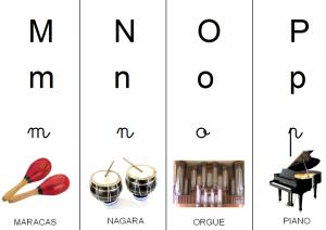 image abécédaire instruments de musique