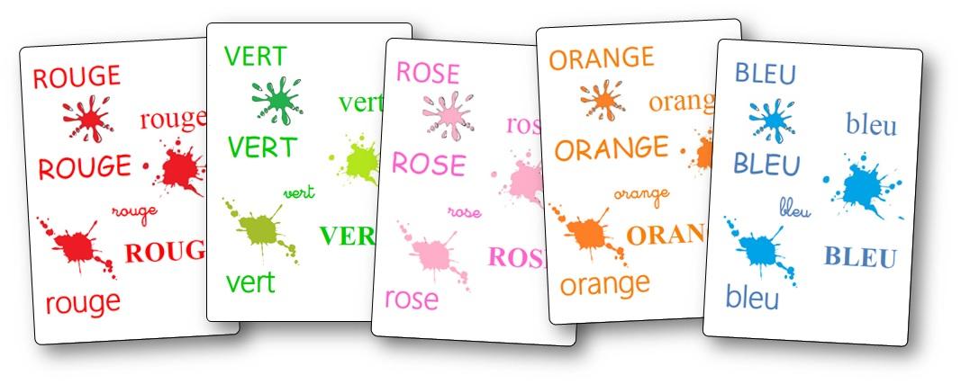 Imagier des couleurs à imprimer