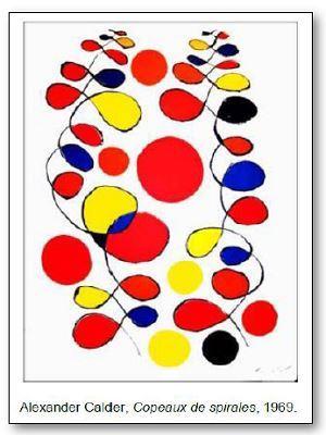 Alexander Calder Copeaux et spirales
