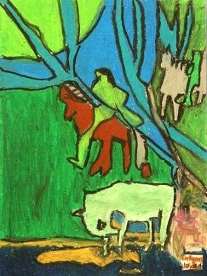 Paul Gauguin Le cheval blanc production d'élève