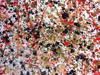 Jackson Pollock Number 8 production d'élèves