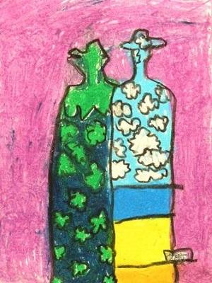 René Magritte La haute société production d'élève