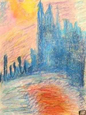 Claude Monet Londres le Parlement production d'élève