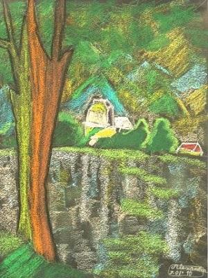 Paul Cézanne Le lac d'Annecy production d'élève