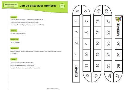 jeu mathématiques jeu de piste avec nombres