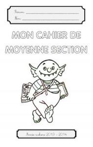 image page de garde maternelle MS Petit ogre va à l'école