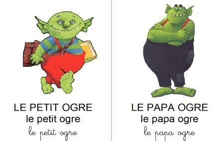 image référentiel d'image Le petit ogre veut aller à l'école