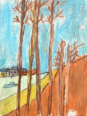 Alfre Sisley Le canal du Loing production d'élève