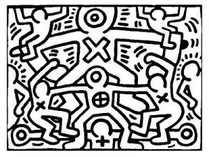 Coloriage Keith Haring 7