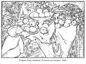 Coloriage Paul En Arlequin.71 Coloriages D œuvres D Artistes Peintres A Imprimer