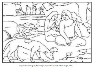 Coloriage Paul Gauguin Arearea