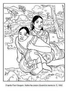 Coloriage Paul Gauguin Nafea faa ipoipo