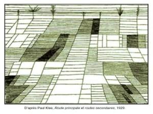Coloriage Paul Klee Route principale et routes secondaires