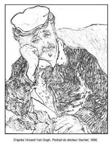 Coloriage Van Gogh Portrait du docteur Gachet