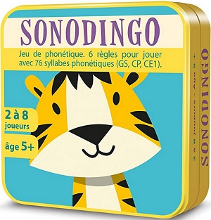 Sonodingo Jeu de phonétique, Jeu de cartes, sons, syllabes