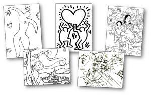 Coloriage Danseuse Cirque.71 Coloriages D œuvres D Artistes Peintres A Imprimer
