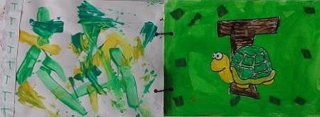 Abécédaire animaux lettre T tortue