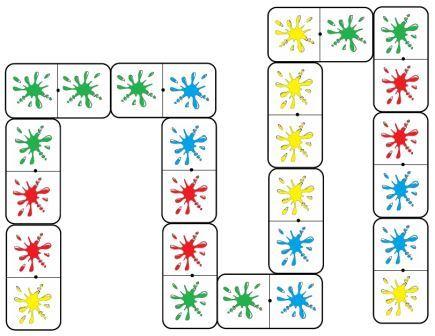 Les dominos des couleurs jeu de dominos sur les couleurs - Coloriage domino ...