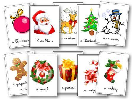 Flashcards anglais Noël, Noël en anglais