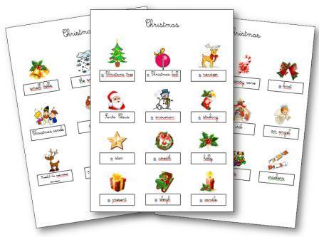 Travailler Sur La Fete De Noel En Anglais Aux Cycles 2 Et 3 Flashcards