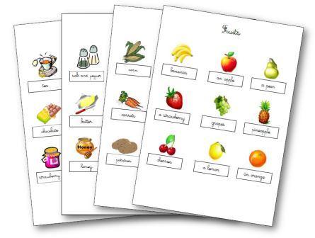 la nourriture en anglais aux cycles 1 2 et 3 flashcards le ons m mory. Black Bedroom Furniture Sets. Home Design Ideas