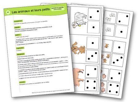 Les animaux et leurs petits jeu mathématiques, Jeu mathématiques les animaux et leurs petits