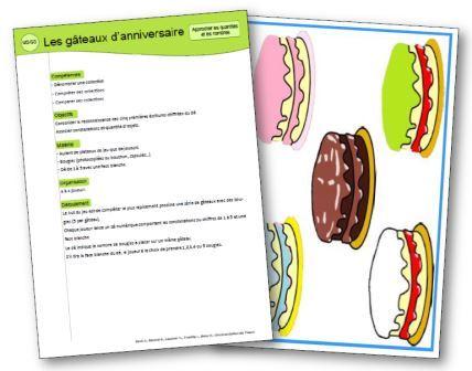 Les gâteaux d'anniversaire jeu mathématiques ms et gs, Jeu mathématiques moyenne section