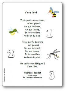 Poésie Cest Lété Trois Petits Moustiques De Thérèse