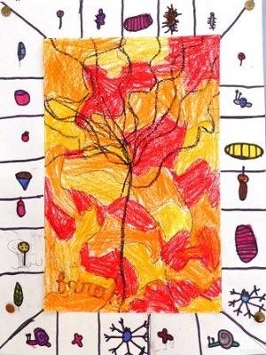 Alechinsky Pierre l'arbre bleu production d'élève