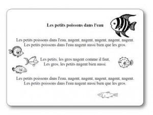 comptine les petits poissons dans l 39 eau paroles illustr es de la comptine. Black Bedroom Furniture Sets. Home Design Ideas