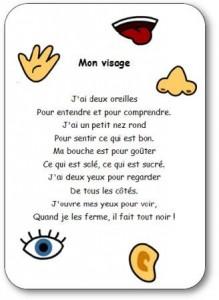 Comptine Mon Visage Comptine Sur Les 5 Sens Mon Visage