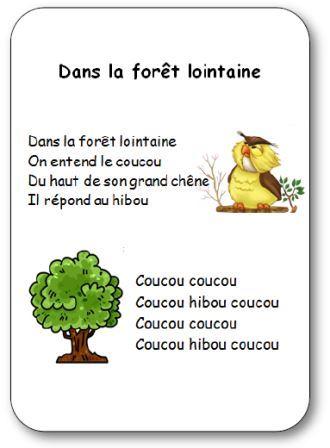 Comptine Dans La Forêt Lointaine Paroles Ilustrées Dans