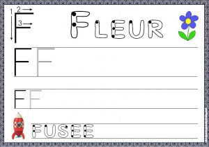 écrire les lettres de l'alphabets