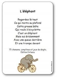 Comptine à Gestes Léléphant Paroles Illustrées Léléphant à
