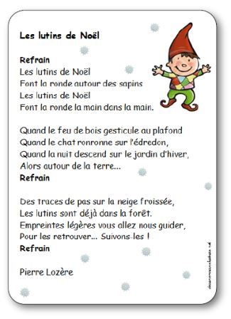Chanson les lutins de no l paroles illustr es imprimer for Jardinier traduction anglais
