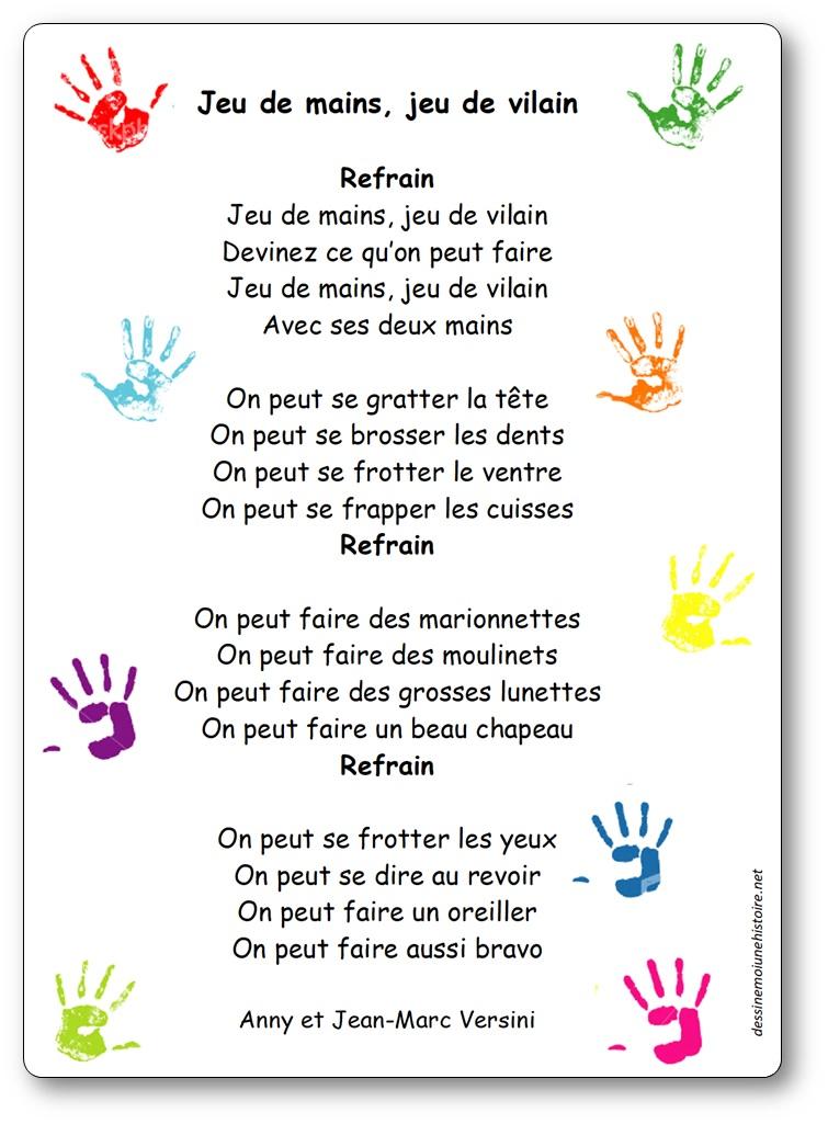 Chanson à gestes Jeu de mains Jeu de vilain d'Anny et Jean-Marc Versini